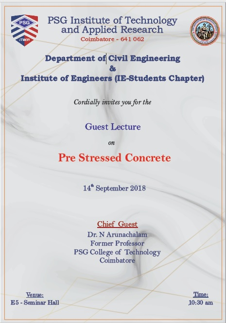 Invitation Letter For Guest Lecturer In Engineering College from www.psgitech.ac.in